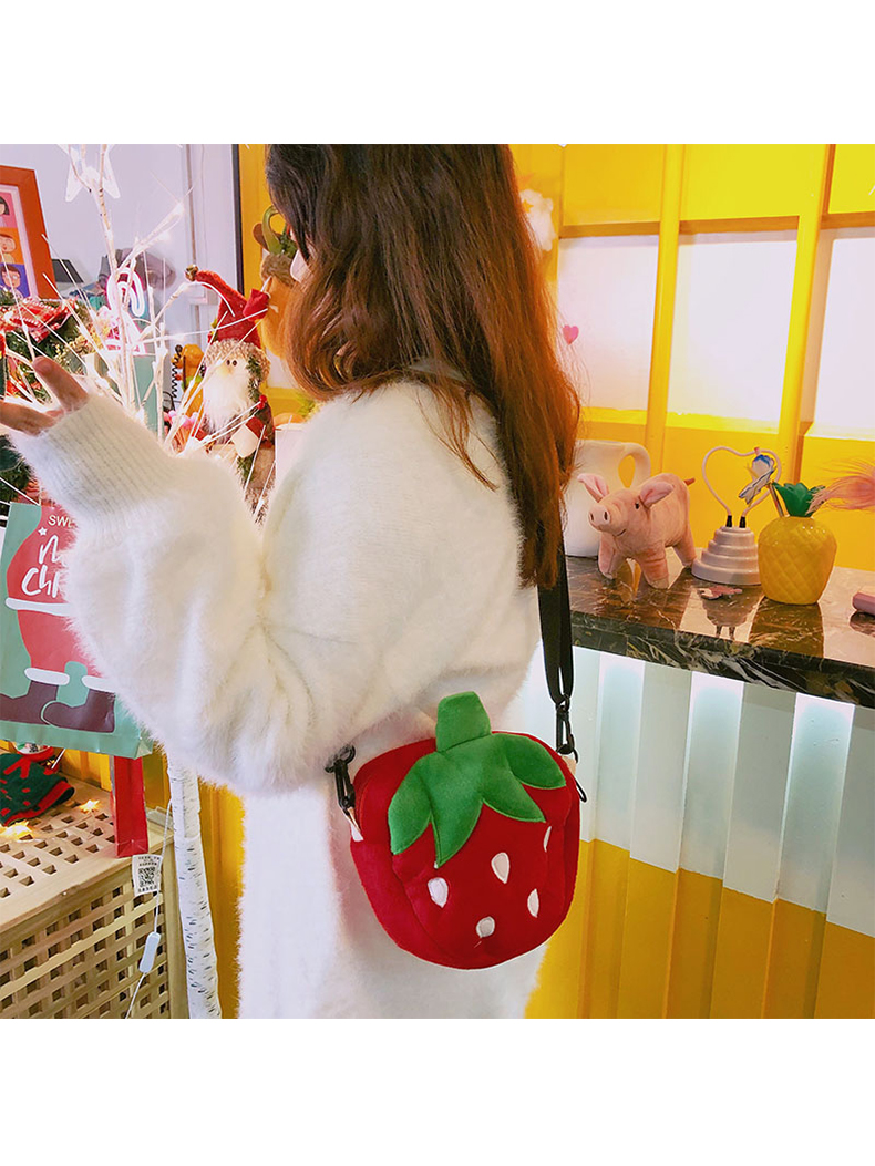 Modakawa Bag Kawaii Strawberry Crossbody Bag