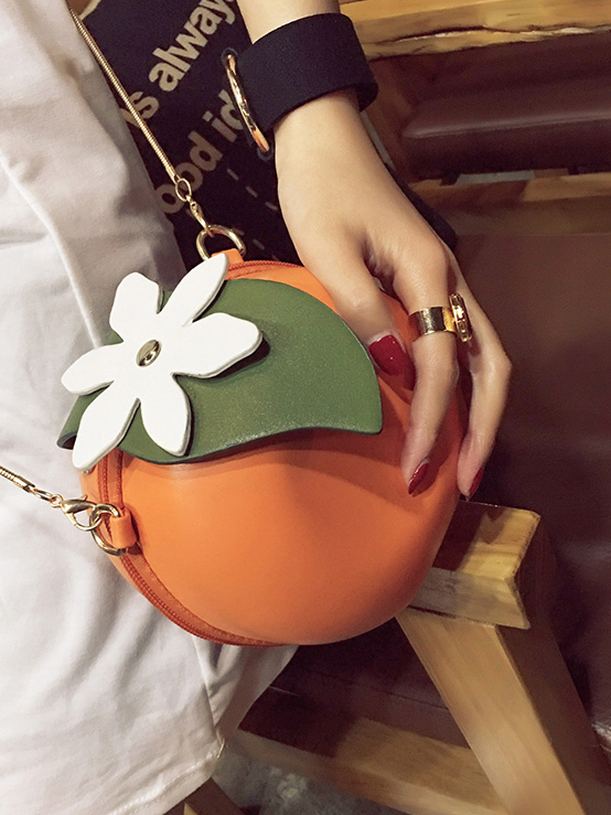 Modakawa Bag Orange Crossbody Bag