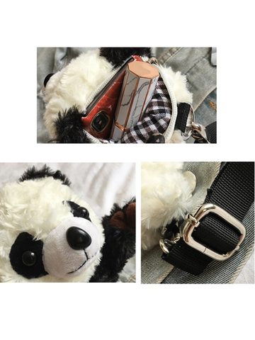 Modakawa Bag Panda Soft Plush Crossbody Bag