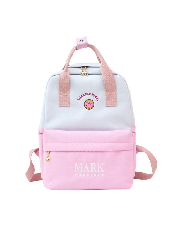 Modakawa Bag Pink Cute Cartoon Embroidery Backpack