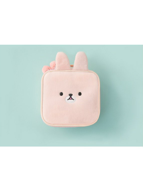 Modakawa Bag Pink Kawaii Embroidery Square Cosmetic Bag