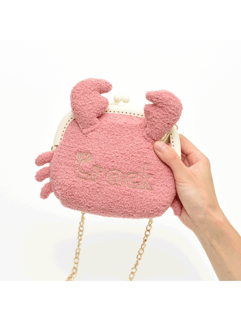 Modakawa Bag Plush Small Crab Crossbody Bag