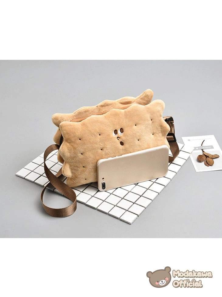 Modakawa Bag Surprised Biscuit Crossbody Bag