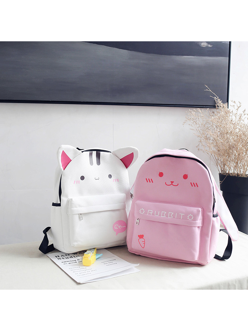 Modakawa Bag White Japanese Kawaii Animal Backpack