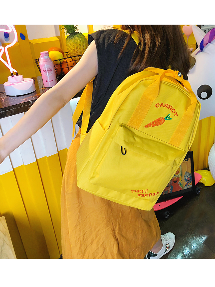 Modakawa Bag Yellow Fruit Embroidered Backpack