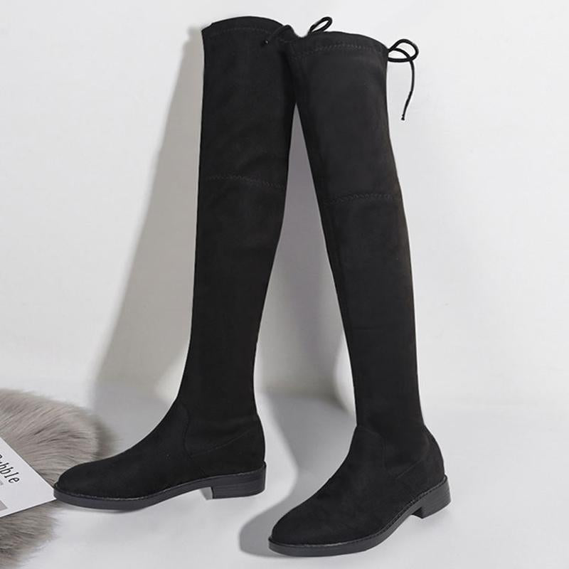Modakawa Boots Black (Standard) / 34 Fashion Knot Knee High Boots