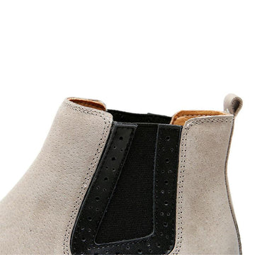 Modakawa Boots British Style Thick Bottom Flat Martin Short Boots