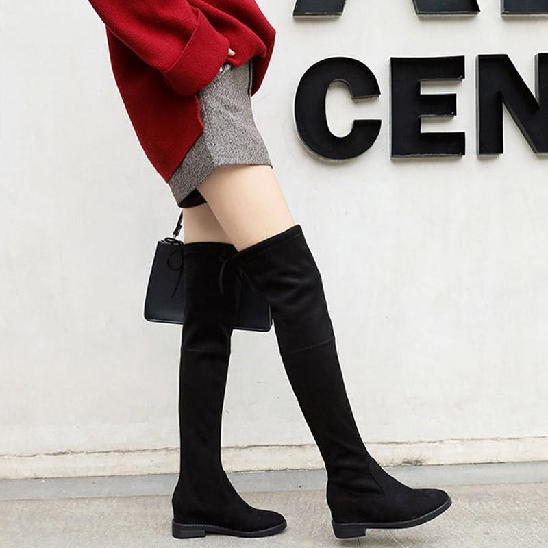 Modakawa Boots Fashion Knot Knee High Boots