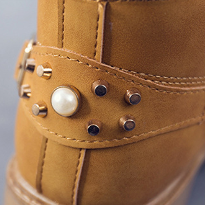 Modakawa Boots Lace-up Studded Martin Boots