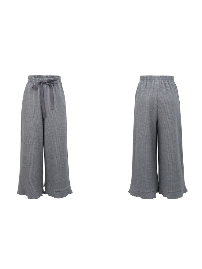 Modakawa Bottoms High-Rise Wide-Leg Straight Pants