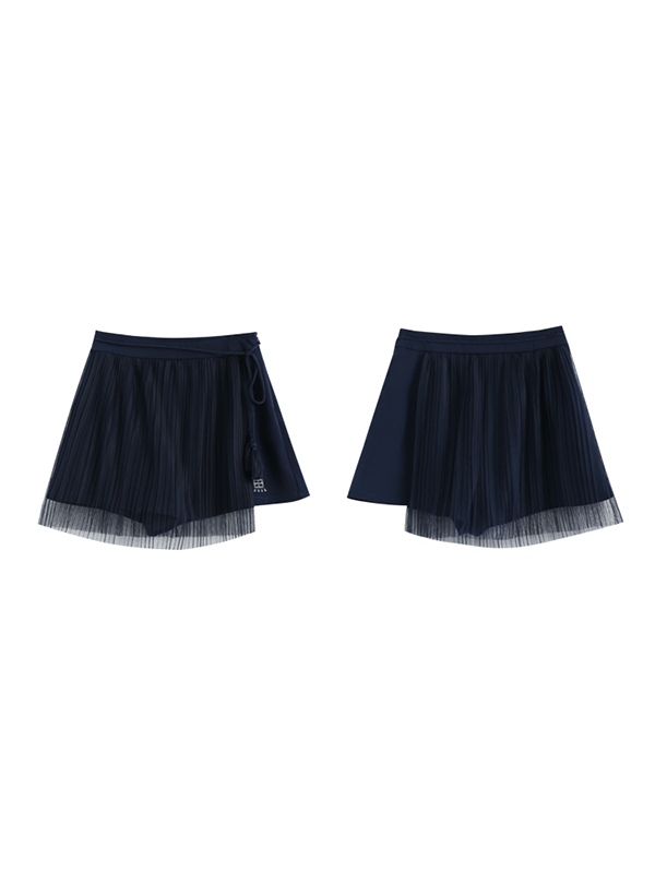 Modakawa Bottoms S Sweet Mesh Culottes Pleated Skirt