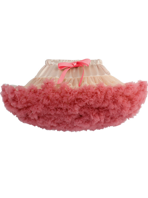 Modakawa Bottoms Wine red Cute Mesh Tutu Tiered Skirt