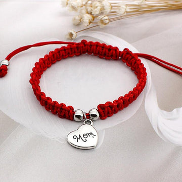 Modakawa Bracelet 【Limited 300 】Lucky Red String Bracelet Mom Letter