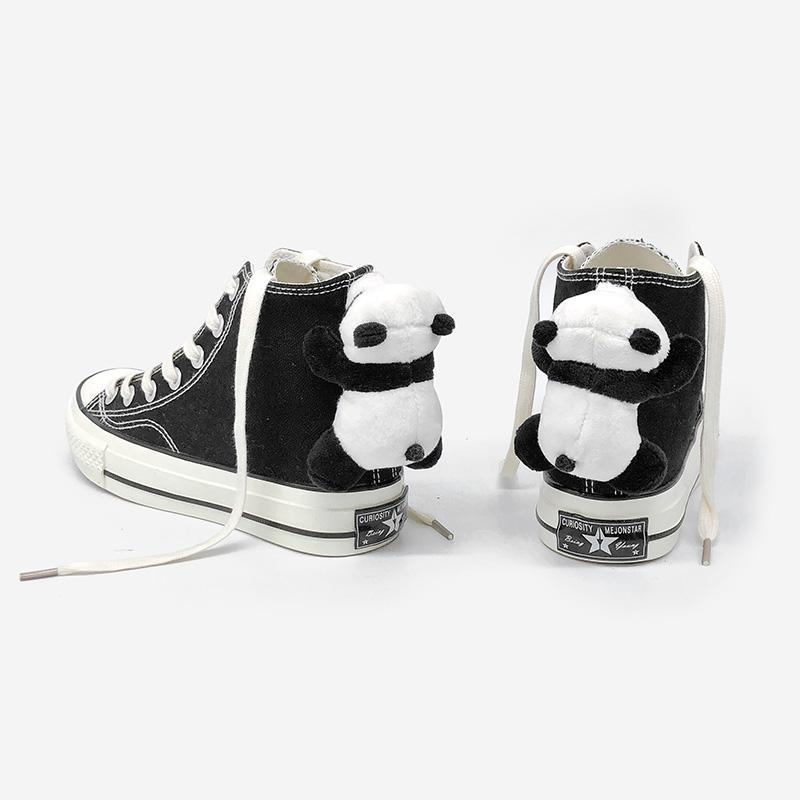 Modakawa Canvas Shoes Black / 35 Panda Doll High Top Canvas Shoes
