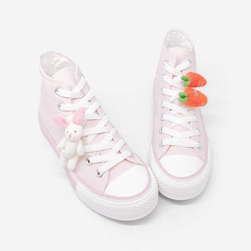 Modakawa Canvas Shoes Bunny Carrot High Top Canvas Shoes
