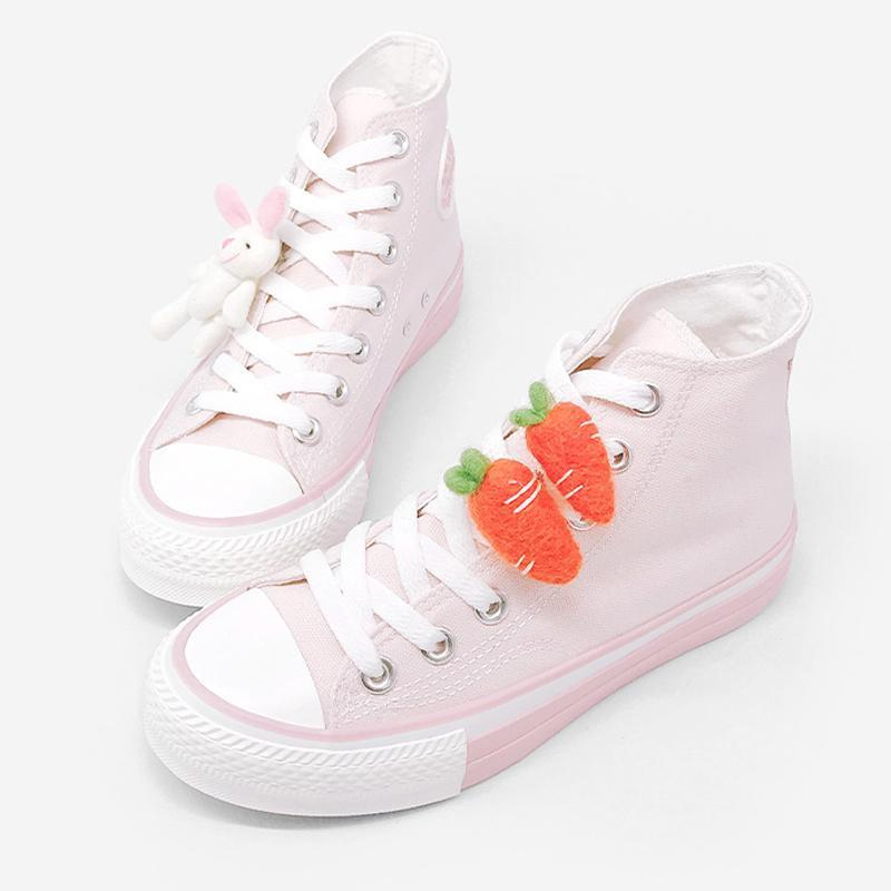 Modakawa Canvas Shoes Carrot / 36 Bunny Carrot High Top Canvas Shoes