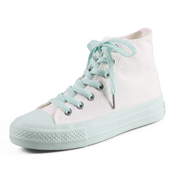 Modakawa Canvas Shoes School Girl High Top Canvas Shoes