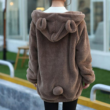 Modakawa Coat Bear Ears Winter Plush Coat