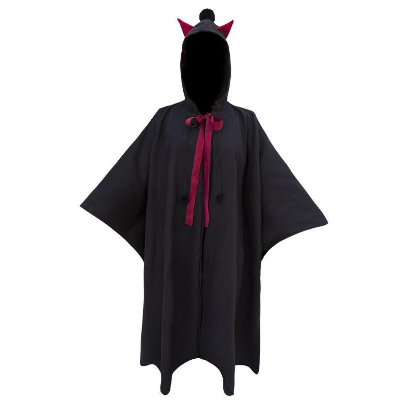 Modakawa Coat Black / S Little Devil Hooded Black Cloak Long Cape Irregular