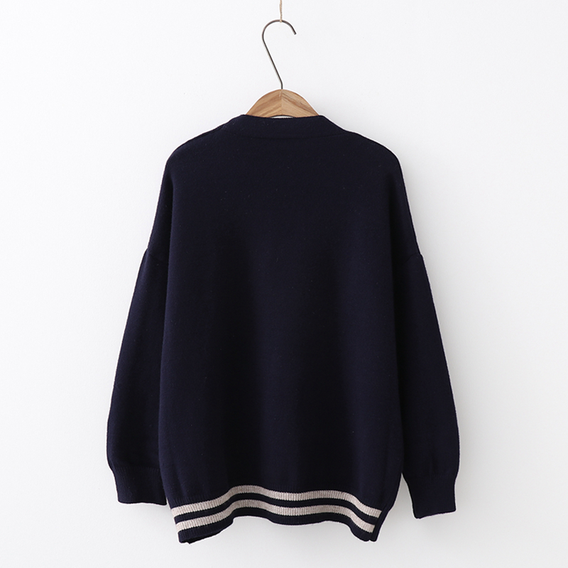 Modakawa Coat Cat Embroidery Cardigan Sweater