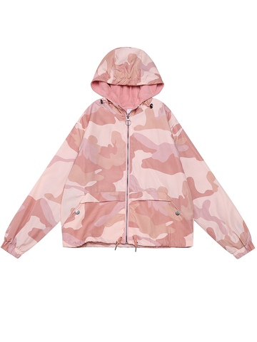 Modakawa Coat Harajuku Camouflage Hooded Coat
