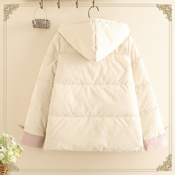 Modakawa Coat Japanese Cat Student Hooded Cotton Coat