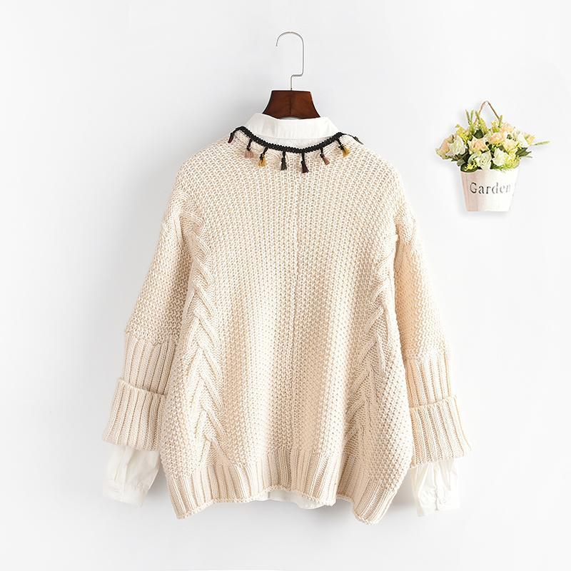 Modakawa Coat Open Front Tassel Knit Cardigan Sweater Coat