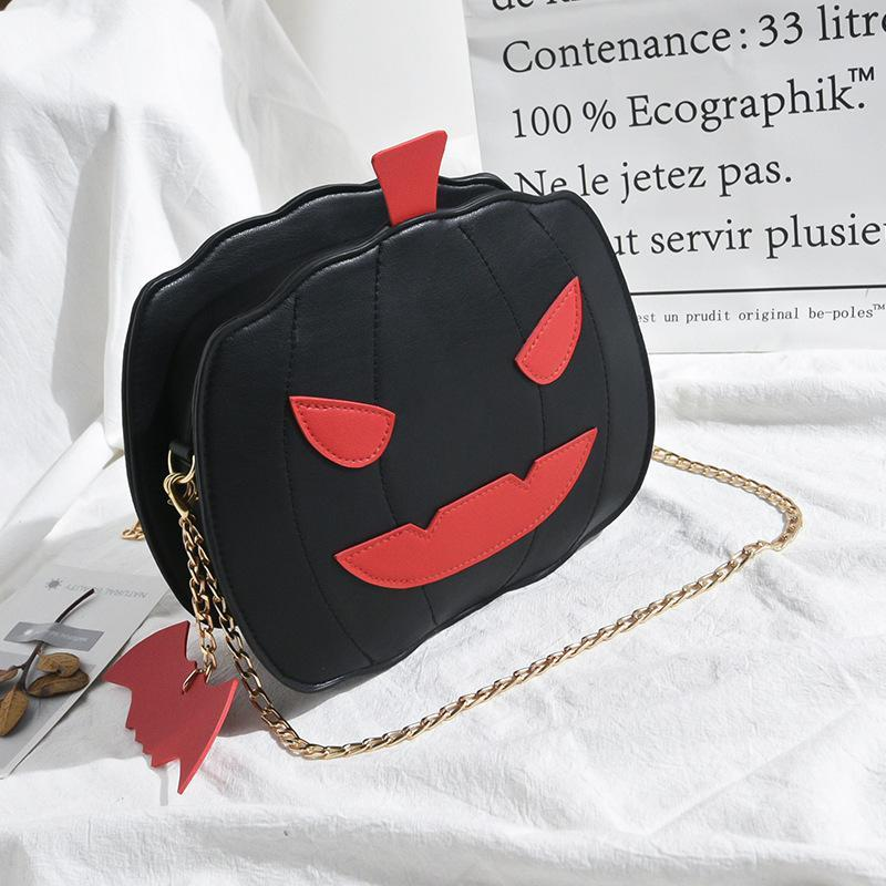 Modakawa Crossbody Bag Black / One Size Pumpkin Crossbody Bag