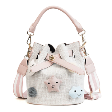 Modakawa Crossbody Bag Cartoon Star Cloud Bucket Bag