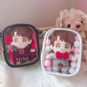 Modakawa Crossbody Bag Itabag Clear PU Cute Dolls Crossbody Bag