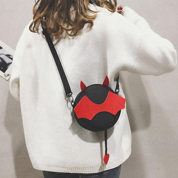 Modakawa Crossbody Bag Kawaii Little Devil Crossbody Bag