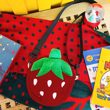 Modakawa Crossbody Bag Kawaii Strawberry Crossbody Bag