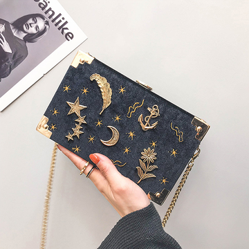 Modakawa Crossbody Bag Moon Star Box Cross-Body Bag