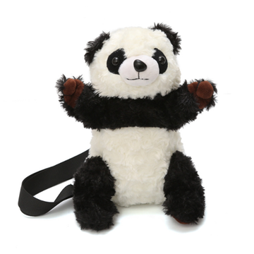Modakawa Crossbody Bag Panda / One Size Panda Soft Plush Crossbody Bag