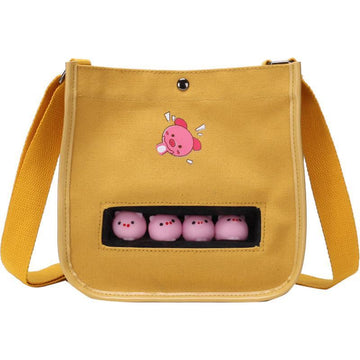 Modakawa Crossbody Bag Piggy Chick Print Crossbody Bags