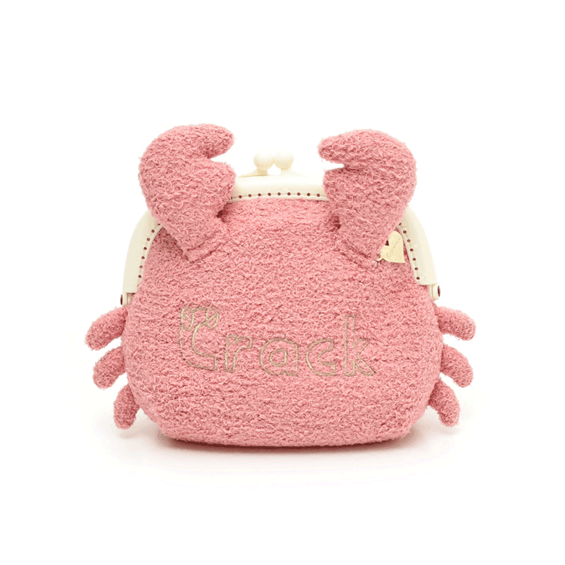 Modakawa Crossbody Bag Plush Small Crab Crossbody Bag