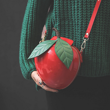 Modakawa Crossbody Bag Red/ Green Apple Crossbody Bag