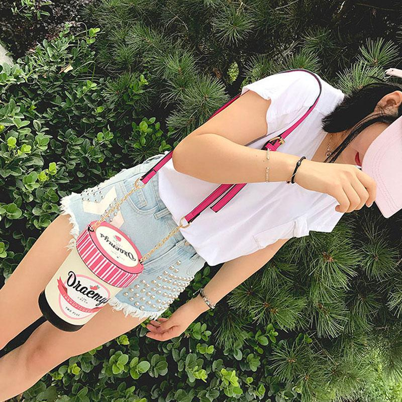 Modakawa Crossbody Bag Strawberry Ice Cream Bucket Bag