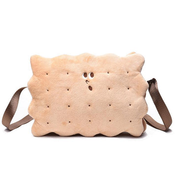 Modakawa Crossbody Bag Surprised Biscuit Crossbody Bag