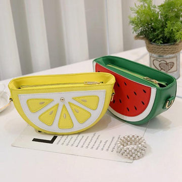 Modakawa Crossbody Bag Watermelon Lemon Crossbody Bag