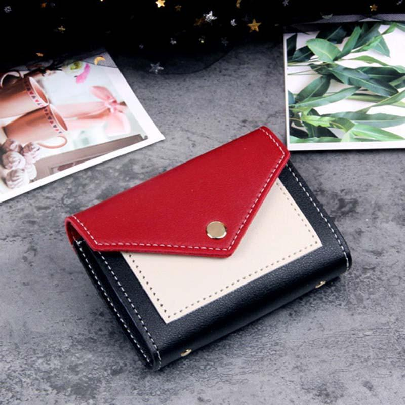 Modakawa Cute Things Credit Card Holder Wallet Purse Candy Color Block