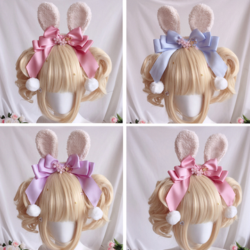 Modakawa Cute Things Cute Rabbit Ears Bowknot Sakura Headband