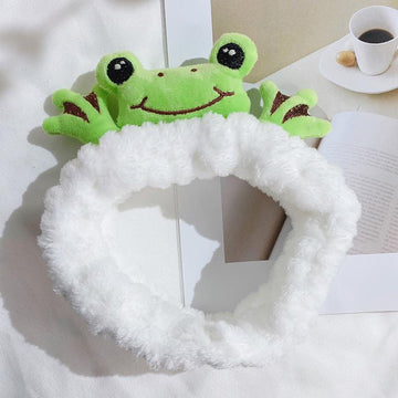 Modakawa Cute Things White / One Size Frog Headband Hair Accessory