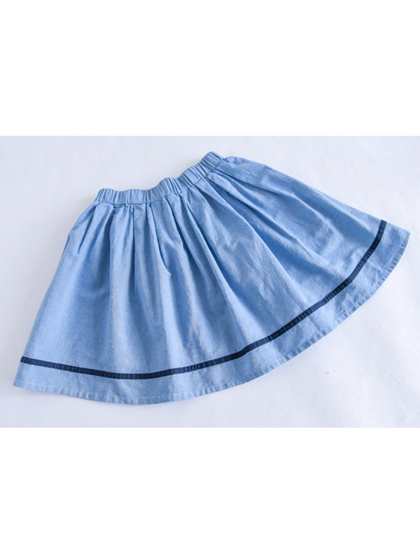 Modakawa Dress Japanese Kawaii Bunny Navy Collar T-Shirt Skirt Two Piece Set