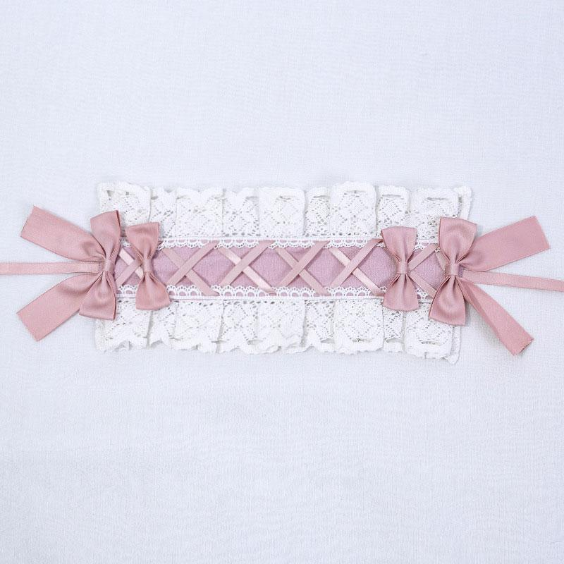Modakawa Dress Pink Headband / One Size Sweet Bow Ruffle A-line Lolita Dress