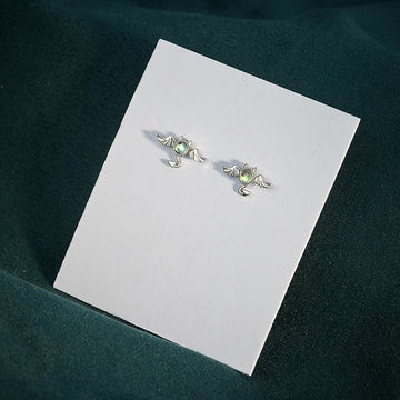 Modakawa Earrings Devil / One Size Devil 925 Sterling Silver Stud Earrings