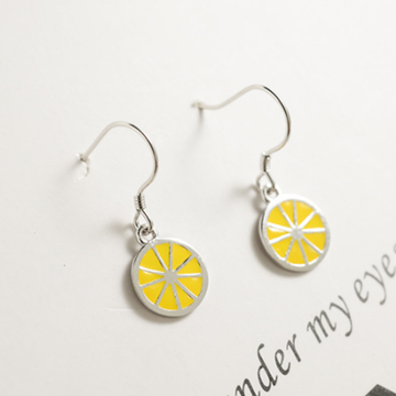 Modakawa Earrings Lemon / One Size Lemon 925 Sterling Silver Stud Earrings