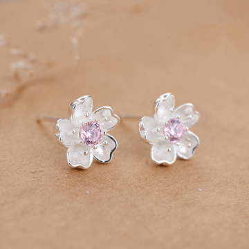 Modakawa Earrings Sakura / One Size Sakura Sterling Silver Stud Earrings