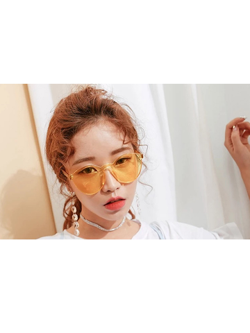 Modakawa Glasses Red Ulzzang Korean Retro Harajuku Sunglasses