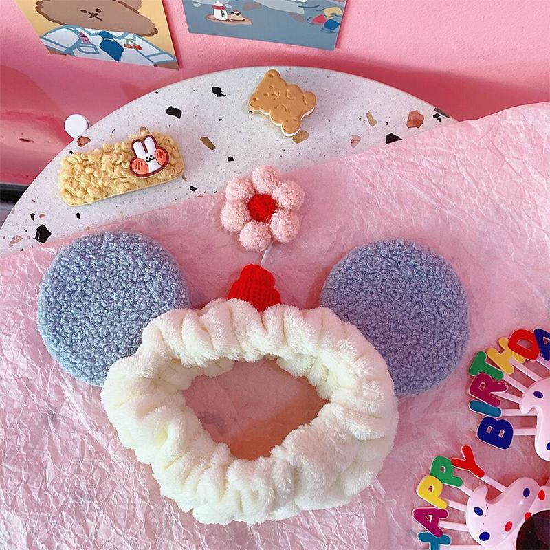 Modakawa Hair Accessories Blue / One Size Flower Ears Headband Hair Accessory